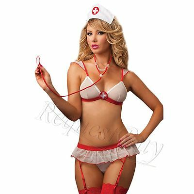 Sexy Ladies Nurse Doctor Outfit Fancy Costume Cosplay Bikini Lingerie Erotic Set