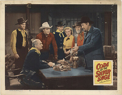 Code of the Silver Sage 1950 Original Movie Poster Action Drama Mystery