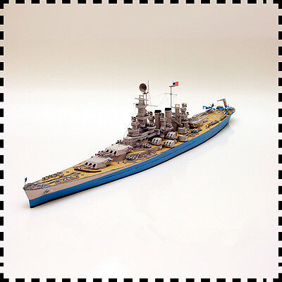 1:400 Scale USS North Carolina-class Battleship DIY Handcraft Paper Model Kit