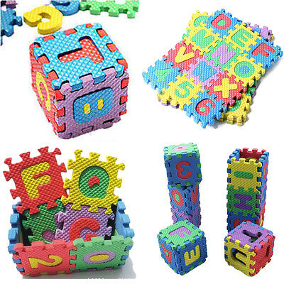Wholesale Kids Baby Mini Foam Alphabet & Numerals Play Education Mats Puzzle Toy