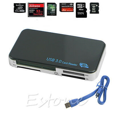 USB 3.0 All in 1 Micro SD TF CF XD M2 MS Multi Memory Card Reader +USB3.0 Cable