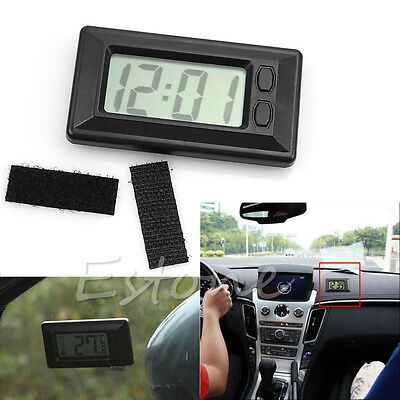 New Universal Black Digital Clock For Car-Truck-Bike-Scooter Interior Dash