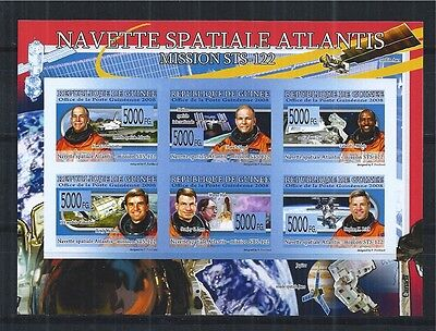 GUINEA 2008 MiNr: 5866 - 77 IMPERF ** SPACE SHUTTLE ATLANTIS MISSION STS - 122