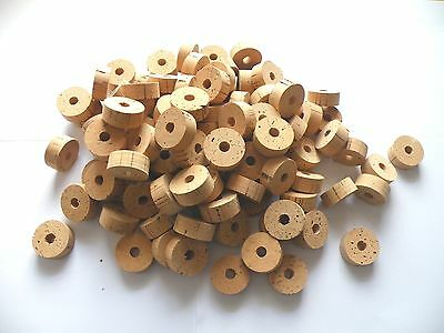 "100 Cork Rings 1 1/4""x1/2""  Bore 5/16"" Grade B - Free Ship For Worldwide"
