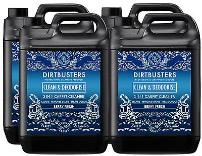 Carpet cleaning solution shampoo odour deodoriser Upholstery Cleaner 4 x 5L vax