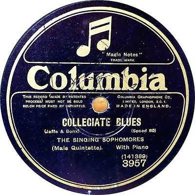 The Revellers - Collegiate Blues - 1926
