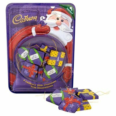Cadbury Mixed 9 Tree Decorations Chocolate 83g Santa Xmas Christmas Birthday