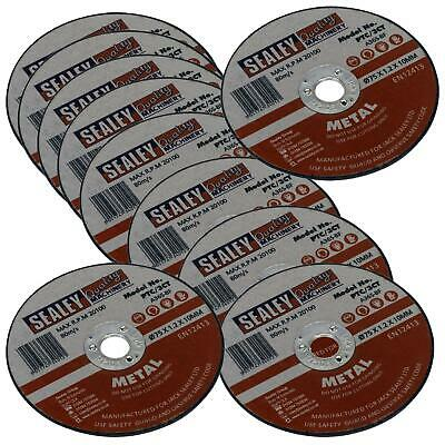 Sealey 10 Pack Metal Stainless Steel Cutting Discs 75mm x 1.0mm Angle Grinder