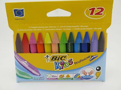 Bic Kids Plastidecor Triangular Crayons Assorted Colours 12/Pk 829773