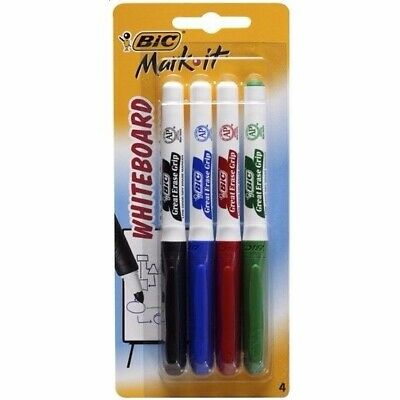 Bic Mark-it Bullet Point Whiteboard Markers Fine Tip 4/Pk 952270