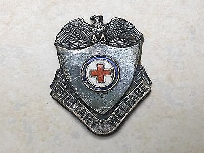 Vintage Red Cross Military Welfare Pin, Sterling