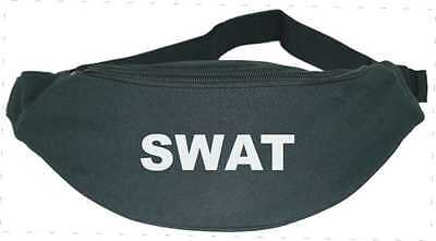 SWAT / Police / FBI Fun Fancy Dress Accessory Bum Bag in Black FREE POSTAGE
