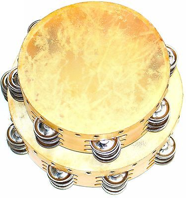 Brand New Deura Triple Row Concert Tambourines 8 And 10 Inch