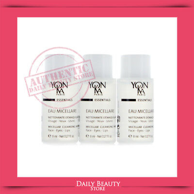 Yonka Eau Micellaire Micellar Cleansing Water 3 Samples NEW FASTSHIP