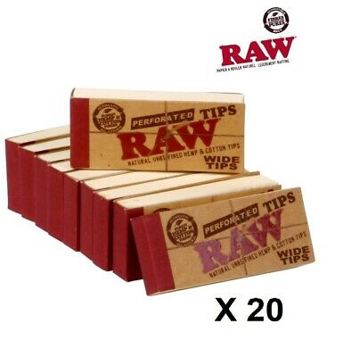 Filtres Raw WIDE TIPS Lot 5 Carnets x 50 cartons (Tip)