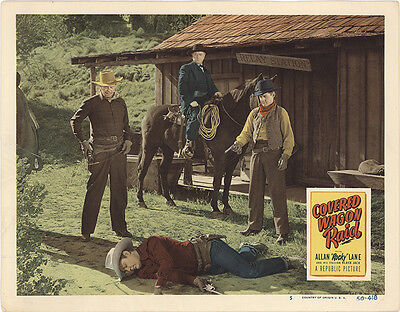 Covered Wagon Raid 1950 Original Movie Poster Action Western