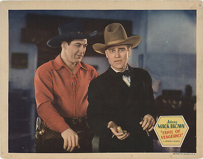 Trail of Vengeance 1937 Original Movie Poster Romance Western