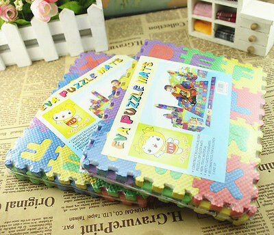 HOT SALE 36pcs Mini Puzzle Kid Educational Toy Alphabet Letters Numeral Foam Mat