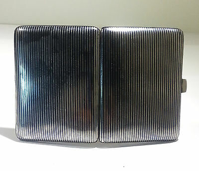 Swiss 800 Gilt Silver & Niello Cigarette Case Circa 1920