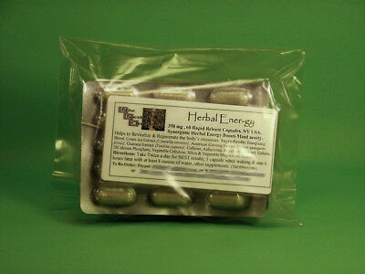 Super Herbal Energy Natural Non Jittery No Insomnia 60 Capsules $6.25