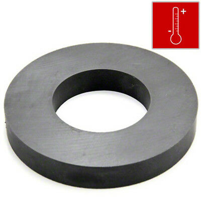 Large Strong Ferrite Ring Magnet 102mm outer diameter x 15mm thick - 9kg Pull