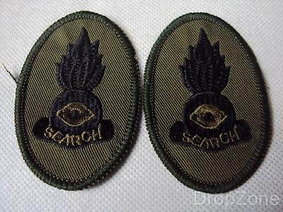 NEW Pair EOD Search Bomb Disposal Cloth Badges / Patches, Royal Engineers / RLC
