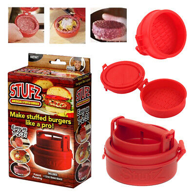 Stuffed Burger Grill Stufz Press Hamburger Bbq Patty Maker Juicy As Seen On Tv