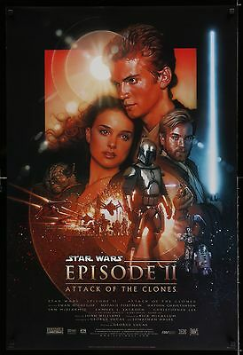 STAR WARS - ATTACK OF THE CLONES double-sided original film / movie poster