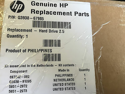 "New Boxed Hp Q3938-67985 Laserjet Cm6030 Cm6040 Hard Drive Kit 2.5"" 320Gb"
