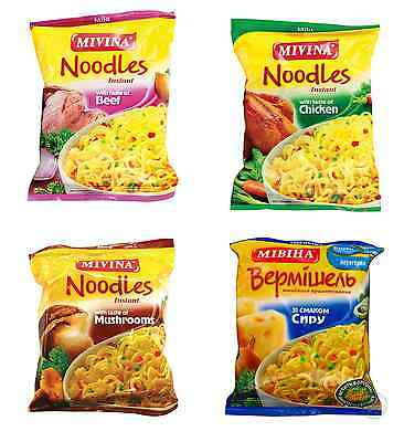 MIVINA Instant Noodle Soup CHEESE / BEEF / CHICKEN / MUSHROOM Flavors 50g 1.8oz