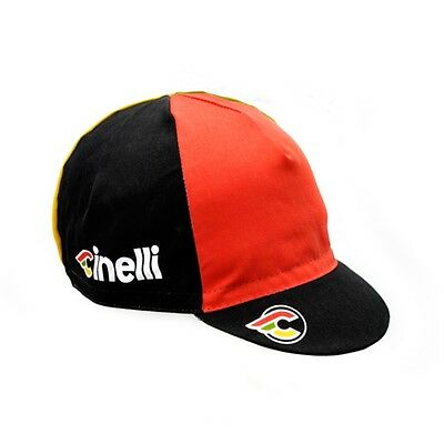 "NEW Cinelli ""Italo '79"" Black Cotton Cycling Cap - ONE SIZE -retro fixed track"