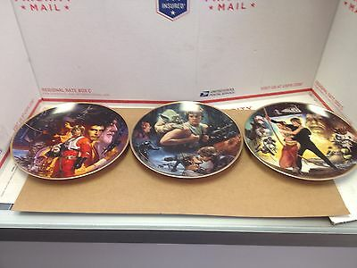 Star Wars Hamilton Collection Plate Lot Trilogy Limited Edition