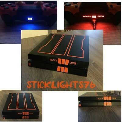 skin stickers black ops 3 call of duty   console ps4 manette controler led