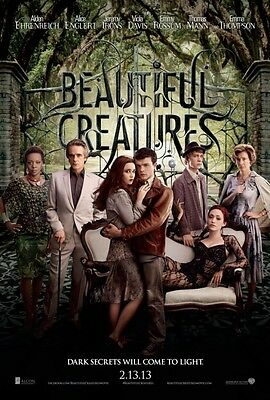 Beautiful Creatures Reg 2013 AdvanceOriginal Movie Poster  Double Sided 27x40