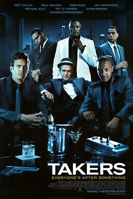 Takers Regular Orig Movie Poster  Dbl Sided 27x40