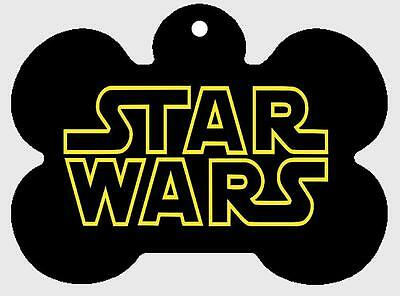 STAR WARS PET ID TAG Personalized Custom Any Name Printed on 2 Sides