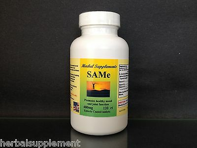 SAM-e 400mg, depression aid,pain relief,spine, hips ~ 120 enteric coated tablets