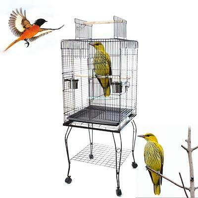146cm Metal Bird Cage Budgie Parakeet Canary Cockatiel Finch Lovebird Tall Cages