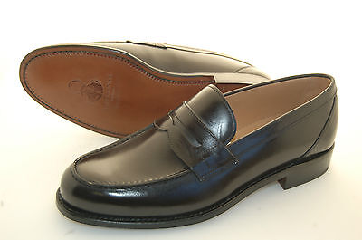 MAN - 44 - 10eu - PENNY LOAFER - BLACK OLD MOUNTAIN CALF - LEATHER SOLE