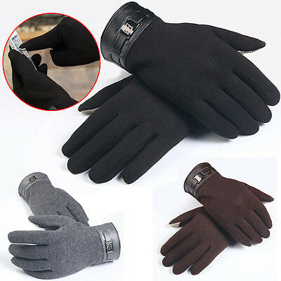 Fashion Mens Gloves Winter Full Finger Smartphone Touch Screen Gloves Mittens
