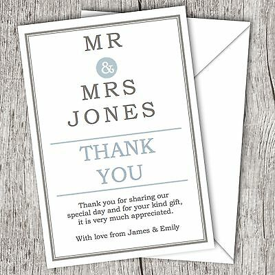 Personalised WEDDING Thank You Cards ~ Classic ~ (Postcards) ~ Fast Post