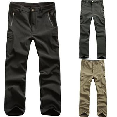 Mens Military Casual Shark Skin Waterproof TAD Soft Shell Outdoor Pants Trousers