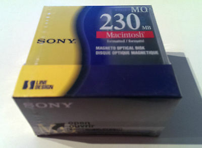 Sony 3,5 Rewritable Magneto Optical 230MB Macintosh Pack 5 unidades ¡NUEVO!