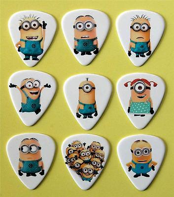 MINIONS Guitar Picks Packet on 9 Plectrums Despicable Me Premium Quality