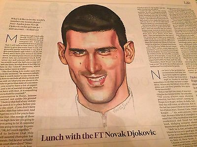 NOVAK DJOKOVIC interview OUT TO LUNCH october 2015 BERTIE CARVEL TAKAO SAITO