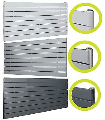 Designer Radiator Horizontal Flat Panel Radiators White, Silver, Dark Grey Rads