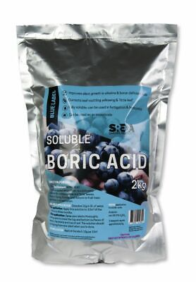 Boric Acid High Purity 2kg SREDA Fully Soluble Hydroponics Pest Control