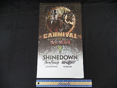 Carnival Of Madness Promo Poster In This Moment Shinedown Papa Roach Skillet S1