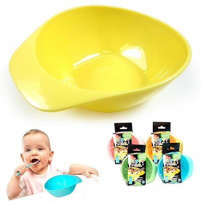 3 Baby Feeding Bowls Set Kids Meal Plate Toddler Food Snack Dish BPA Free Colors