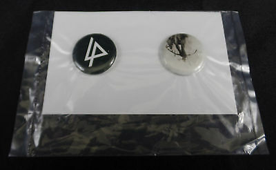 Set Of 2 Linkin Park Hunting Party 2014 Promotional Buttons Pin Badge Patch